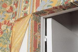 Отделка стен тканью в квартире