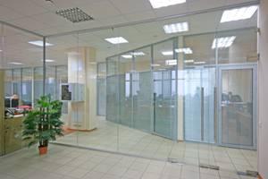 Перегородки из стеклянных блоков