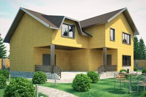 Заведение строящегося дома под крышу