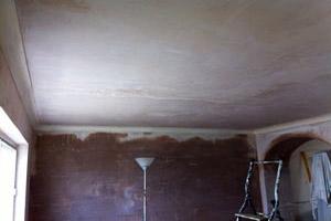 Выравнивание потолка мокрым методом