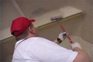 Подготовка к окраске потолка