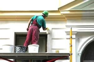 Покраска и ремонт фасада высотного здания