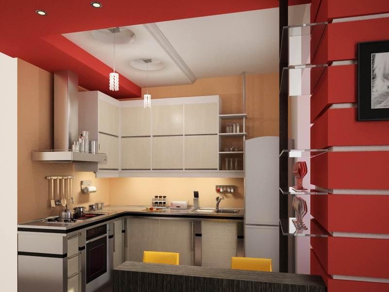 154Кухня ремонт дизайн в квартире