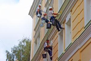 Основные этапы ремонта фасадов зданий