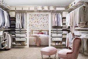 Варианты размещения гардеробных систем